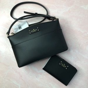 KATE SPADE NWT Black Crossbody Purse and Wallet